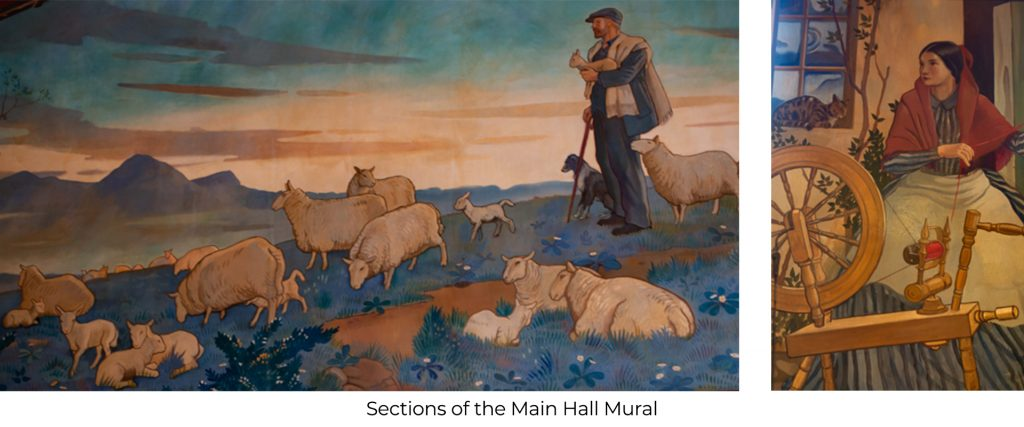 Lucy Sanderson Hall Mural 2